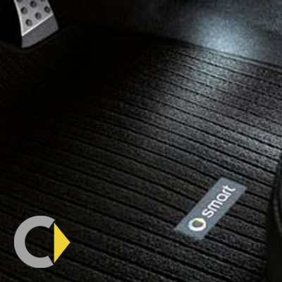SMART ORIGINAL. SMART 451 FORTWO. Alfombrillas reposapies negro