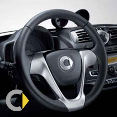 Original smart smart fortwo 451 3 spoke leather sports steering original smart smart fortwo 451 3 spoke leather sports steering wheel with drive altavistaventures Image collections