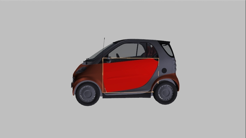 smart 450 fortwo coupe body panneau porte gauche smart wsc. Black Bedroom Furniture Sets. Home Design Ideas