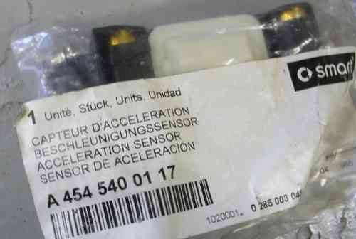 SMART ORIGINAL. SMART 454 FOR FOUR. LHS sensor aceleración airbag lateral.